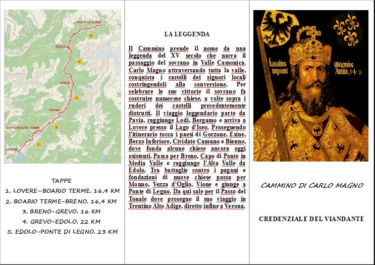 Dove timbrare la credenziale del Cammino di Carlo Magno